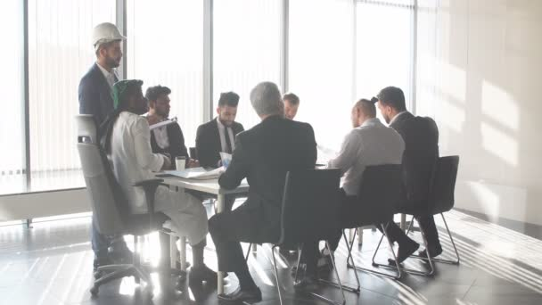 Building company is holding a conference with foreign partners