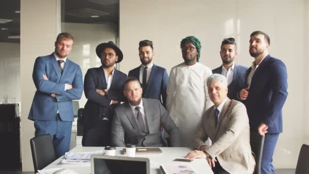 Multiracial group of business team consisting of men only with Executive indoor