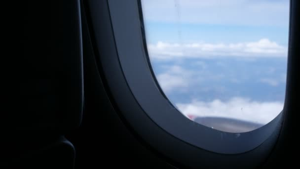 Clouds Sky Seen Window Aircraft Flying Plane Window View Blue