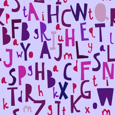 Seamless pattern with abc or alphabet.