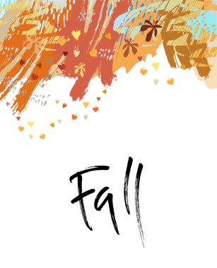 Fall or autumn brush lettering.