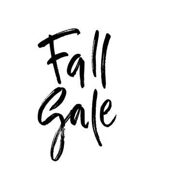 Fall sale brush lettering.