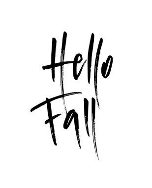 Hello Fall brush lettering.