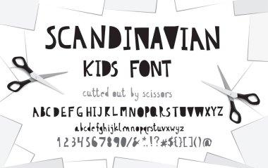 Cutout paper font.