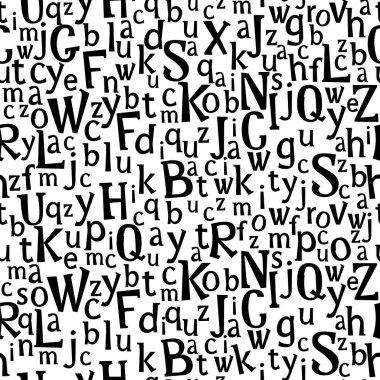 Abc or alphabet seamless pattern .