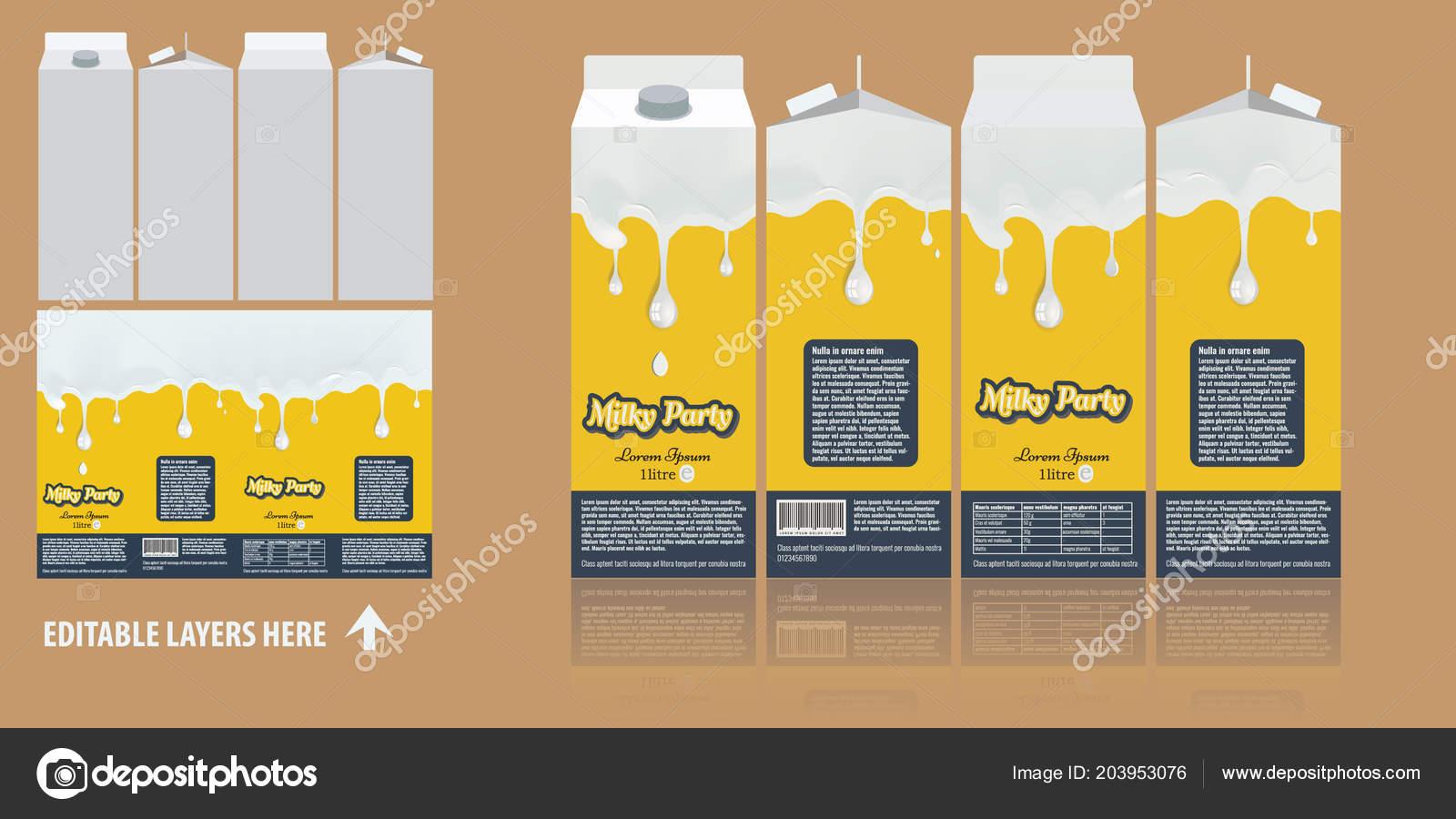 vector branding package design milky chocolate package box design
