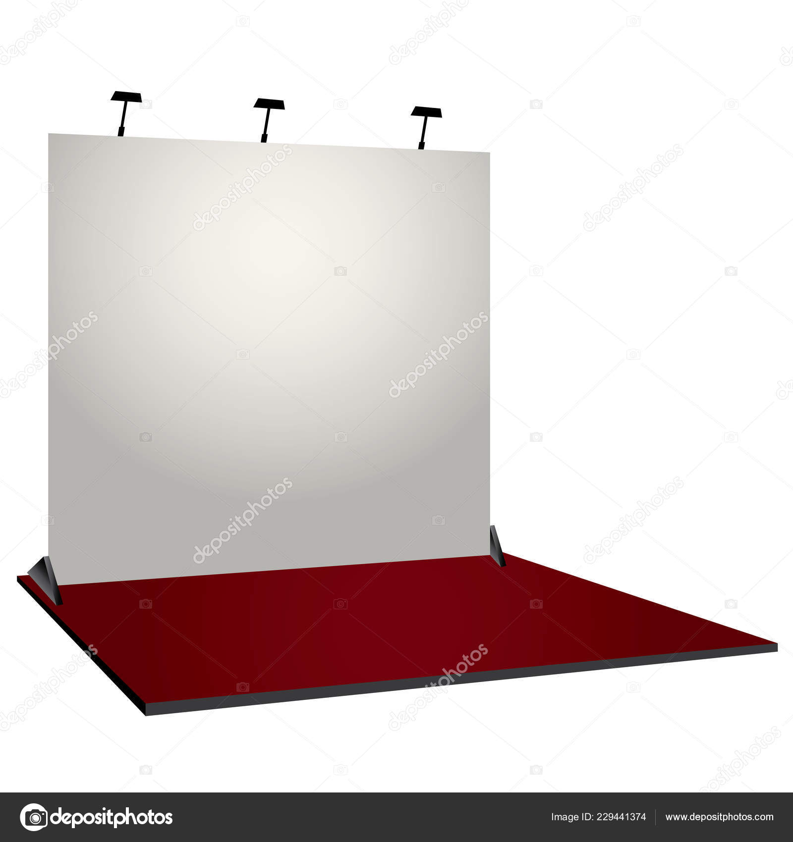 Simple Exhibition Stand Design : White simple exhibition stand booth design corporate identity