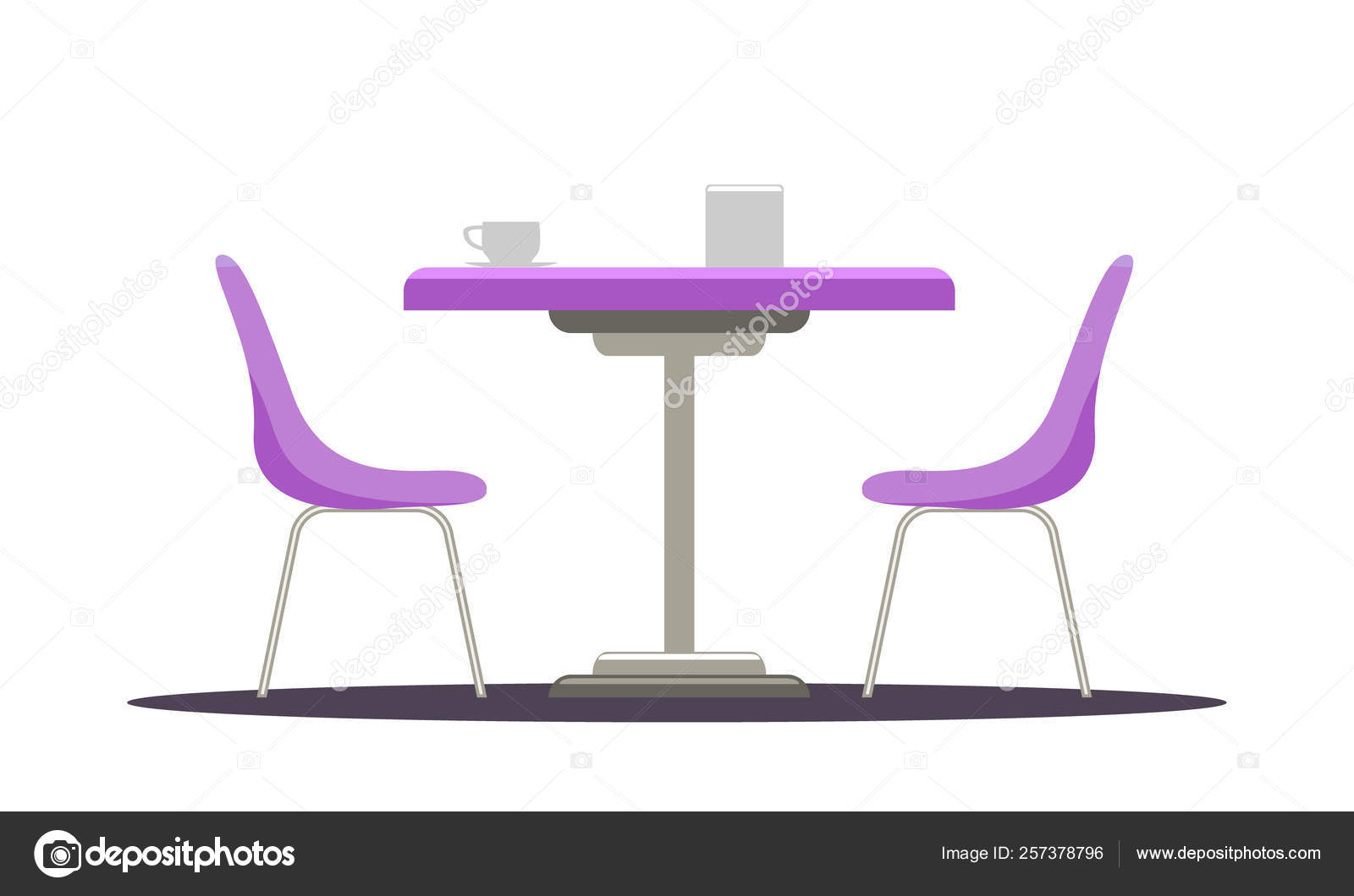 Prime Modern Round Table With Curved Chairs Flat Color Style Inzonedesignstudio Interior Chair Design Inzonedesignstudiocom