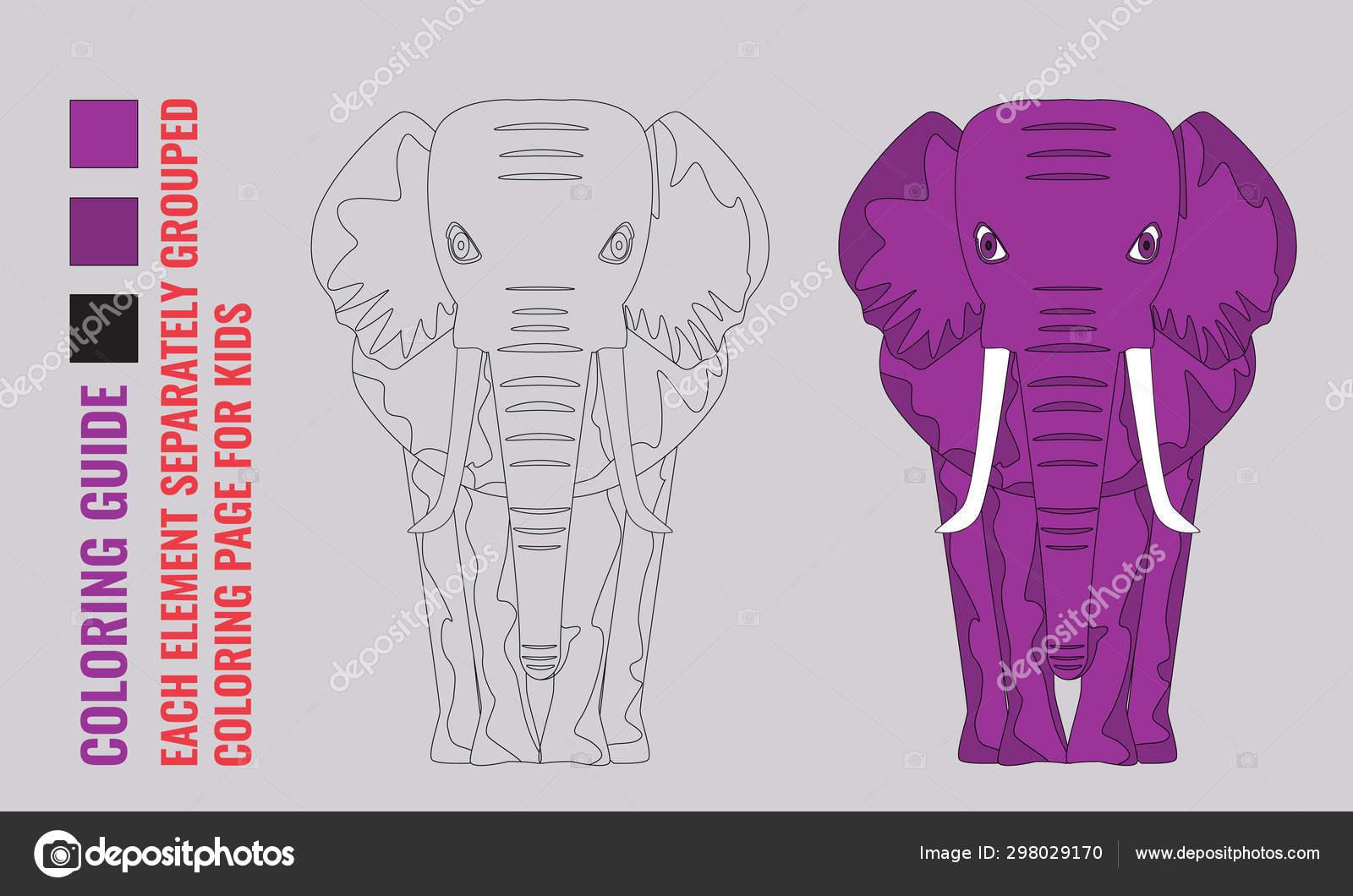 мультфильм и линии искусства слона вид дети обучение игры