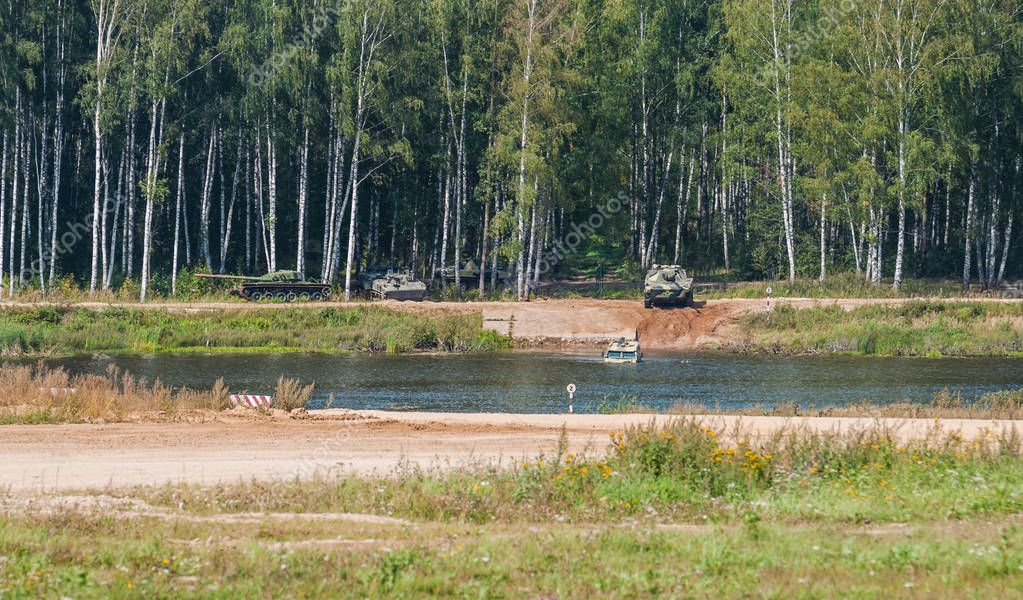 ALABINO MILITARY TRAINING GROUND, MOSCOW OBLAST, RUSSIA - August 26, 2018:  International forum ARMY-2018.