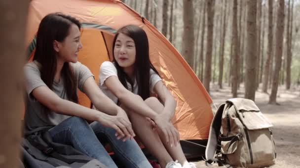 Lgbt Lesbian Women Couple Camping Picnic Together Forest Teenager Enjoy ⬇  Video by © Tirachard Stock Footage #273107270
