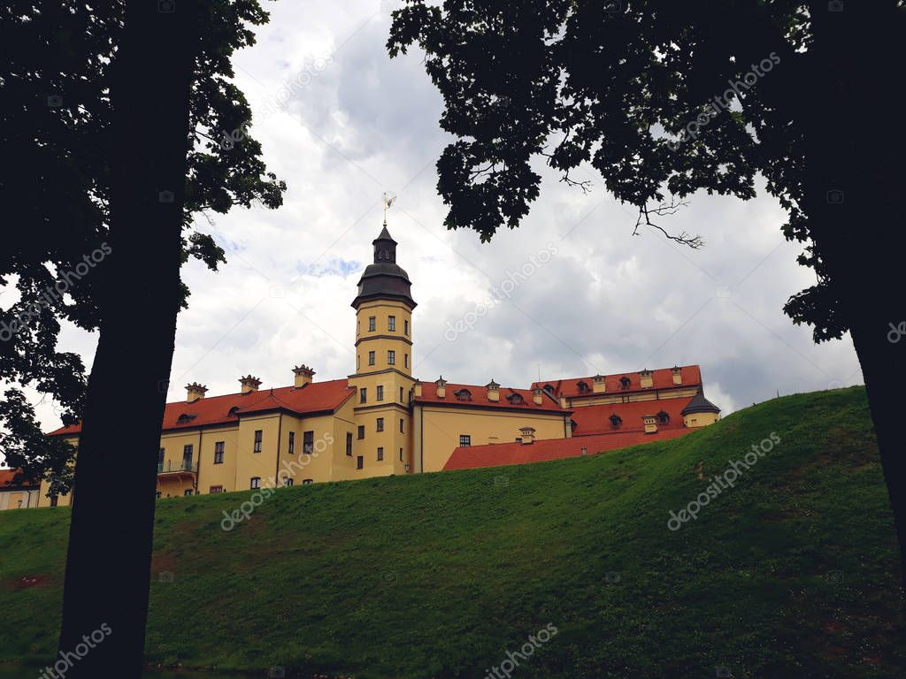 NESVIZH, BELARUS - JULY 13, 2018: Nesvizh Castle as an Example of Belarussian Historical Heritage of Radzivil Family