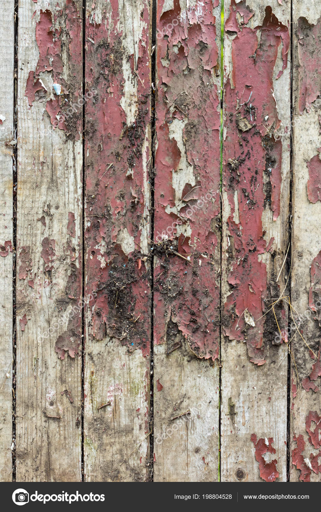 old wooden background remains pieces scraps old paint wood