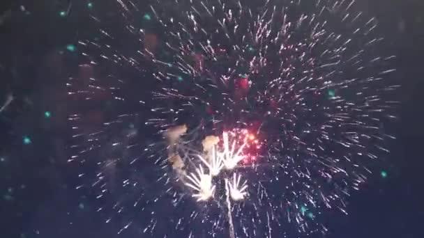 Novoroční ohňostroj pozadí