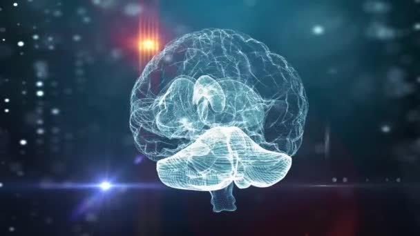 Human brain neural network medical background