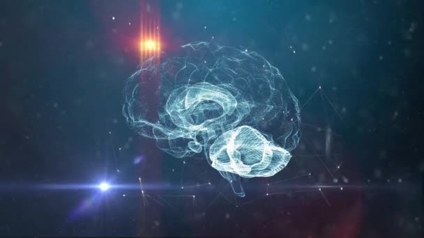 Concetto di intelligenza artificiale del cervello umano
