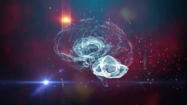 Lidský mozek umělé inteligence koncept