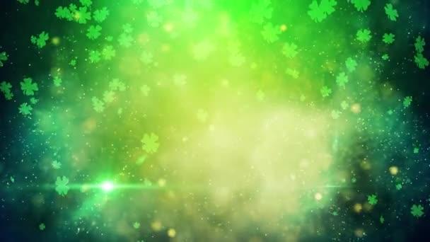 St. Patrick zelený jetel štěstí pozadí