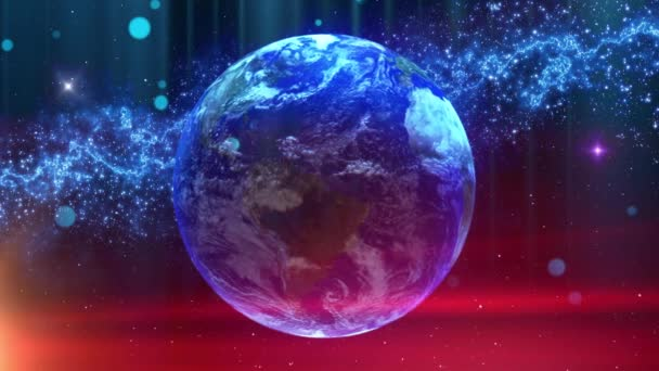 Global technology communication network background