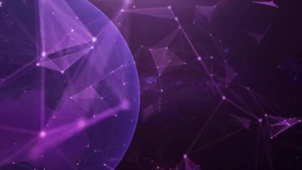 Digital plexus particles technology background