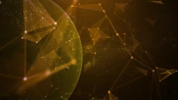 Digitální plexus částic technologie pozadí