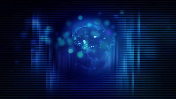 Globális digitális kéktechnológiai háttér