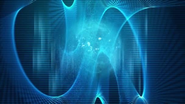 Global digital blue technology background