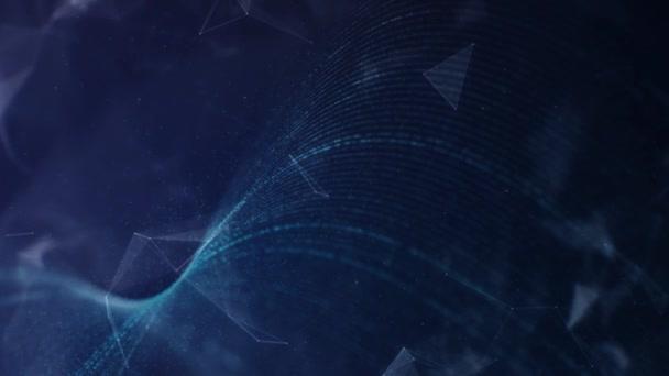 Abstraktní digitální technologie plexus částic