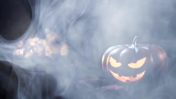 Boldog halloween ijesztő tök háttér