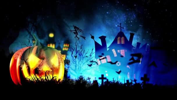Kísértetjárta sütőtök és denevérek Halloween háttér
