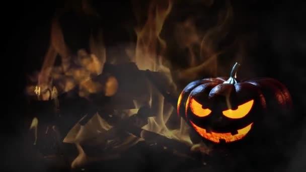 Boldog Halloween kísértetjárta tök háttér
