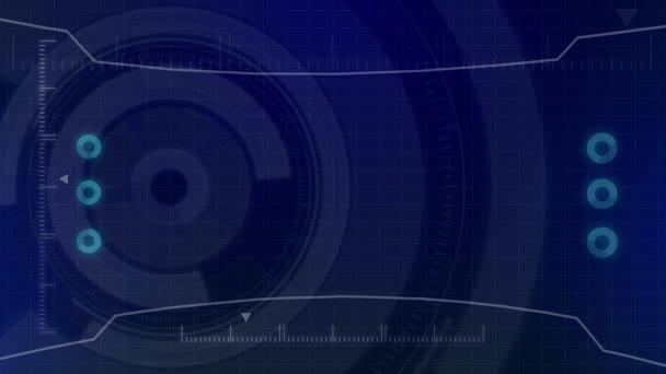 Futuristische digital Hud-Technologie Benutzeroberfläche, Radarschirm mit verschiedenen Technologie Elemente Business Kommunikation-Innovation-Konzept
