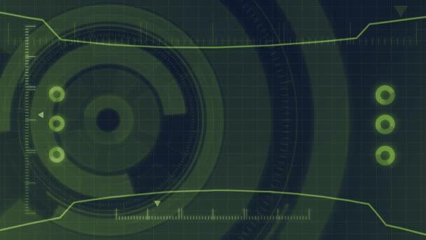 Futuristický digitální technologie Hud uživatelské rozhraní, obrazovka radaru s různými technologie prvky obchodní komunikace inovace koncepce