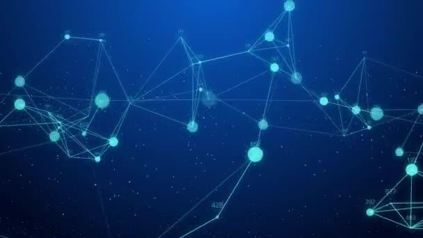 Síťové připojení koncept kreativní pohyb grafické pozadí abstraktní s hacker kód běží