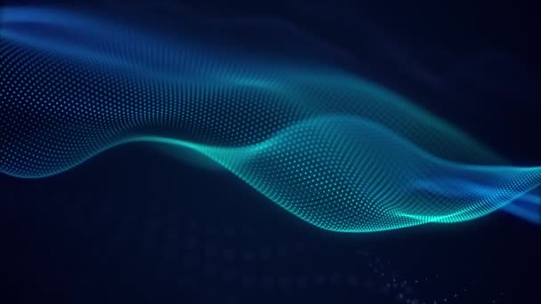 beautiful abstract wave technology background with blue light digital effect corporate concept
