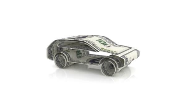 auto je vytvořen z peněz, koncept financování automobilový průmysl, úvěrů na nákup automobilů, hotovostní náklady na auto