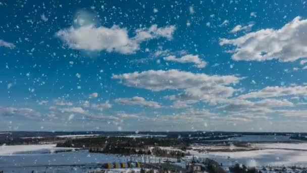 schönen Winter Zeitabläufe mit schönen Schneefall