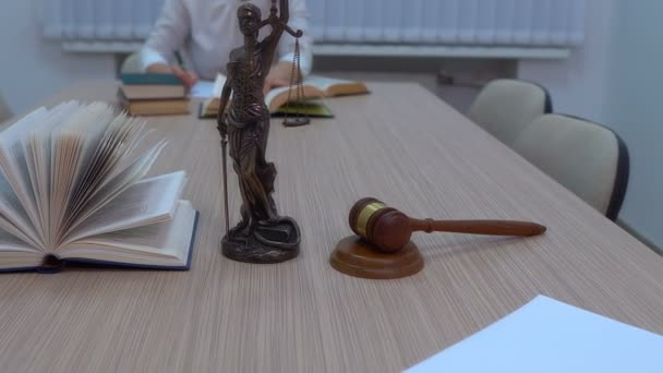 a lawyer in the workplace examines documents and legislation