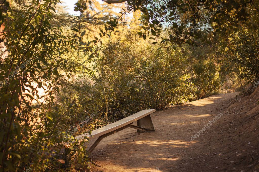 Peaceful Franklin Canyon hike in Beverly Hills, California. The park comprises 605 acres, and is located at the purported geographical center of the city of Los Angeles.