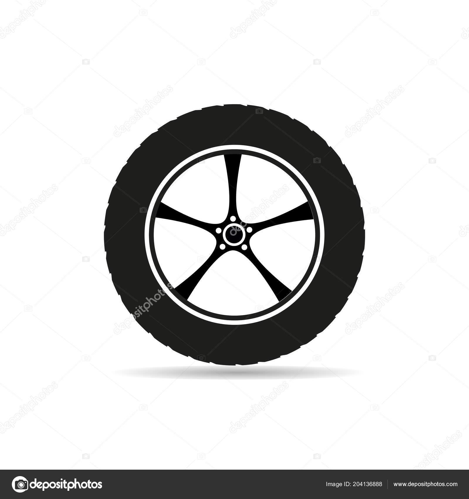 Car Tire Vector Icon Logo Auto Tyre Stock Vector C Gala2205 204136888