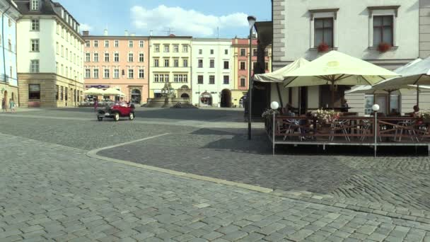 OLOMOUC, CZECH REPUBLIC, JULY 5, 2018: Historic cars veterans on a public car ride through city of Olomouc drive people, first arriving of Ford A Phaeton 1930
