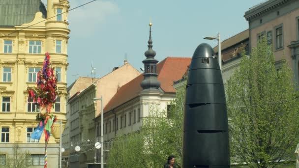 Novodobé Brno, moderní kulturní památka a turistická atrakce pro turistický ruch, lidový strom, Staroměstské