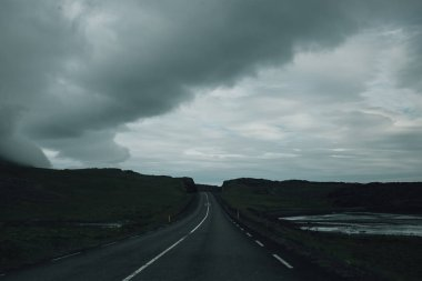 View on road in iceland during roadtrip
