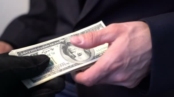 man recieve money from crime people bribe concept