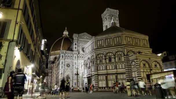 Timelapse of the Cathedral of Santa Maria and the Baptistery, Florence.