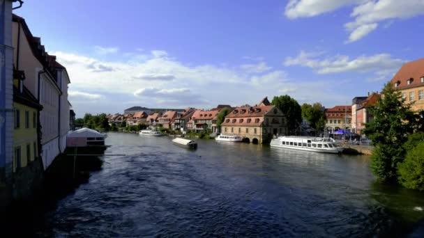 Blick auf das kleine Venedig an der Regnitz in Bamberg