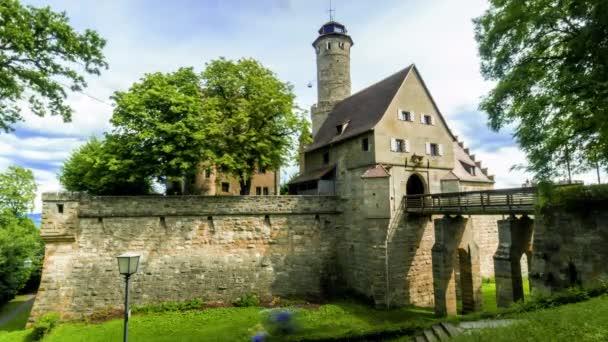 Zeitraffer des Haupteingangs zur Altenburg in Bamberg