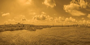Sunset over the Istanbul Bosphorus