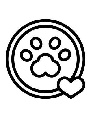 Dog paw icon, vector illustration icon