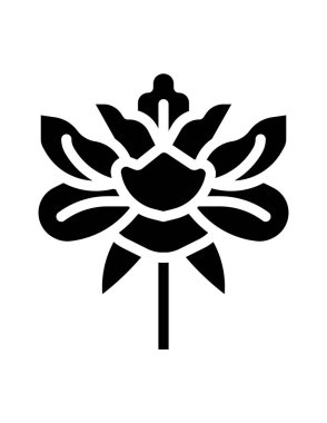 Vector illustration of a flower icon